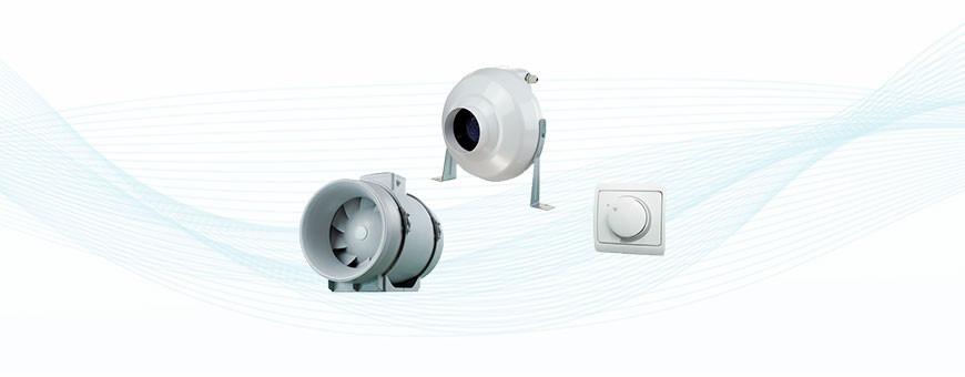 Airsec puhaltimet ja säätimet, IV-koneet